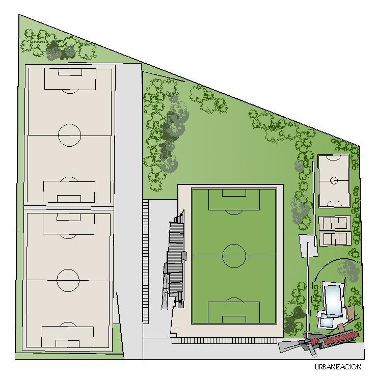 Urbanización - Área Deportiva Castro de Rei