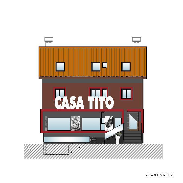 Alzado principal - Casa Tito