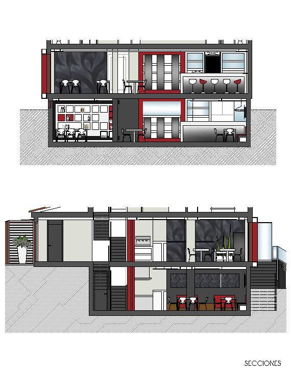 Secciones - Casa Tito