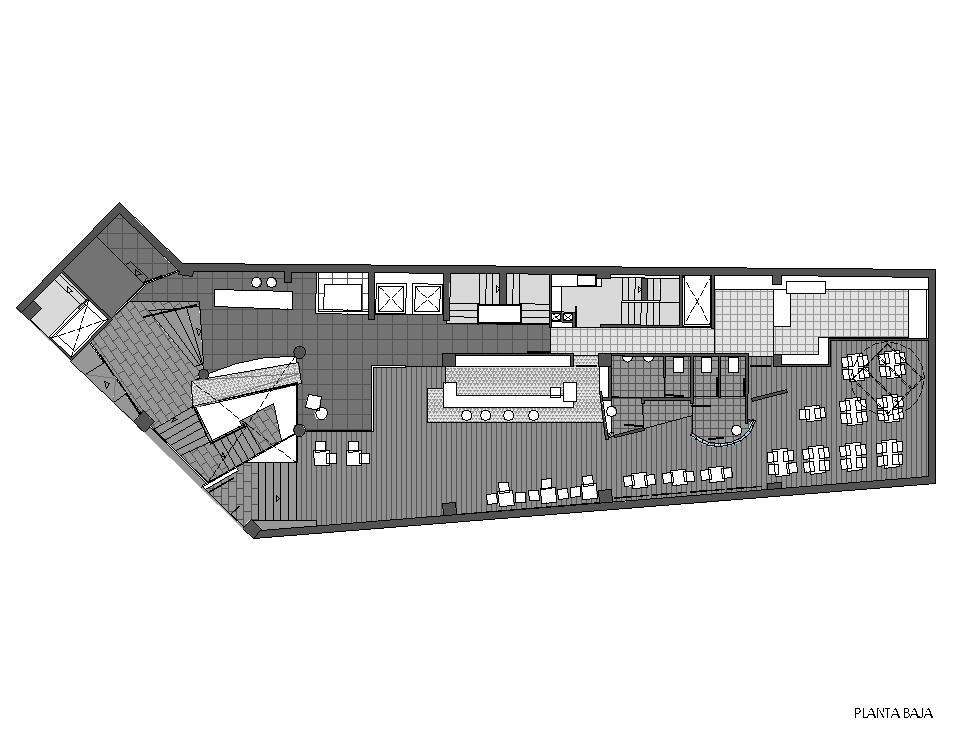 Planta baja - Reforma integral de edificio para Hotel Plaza