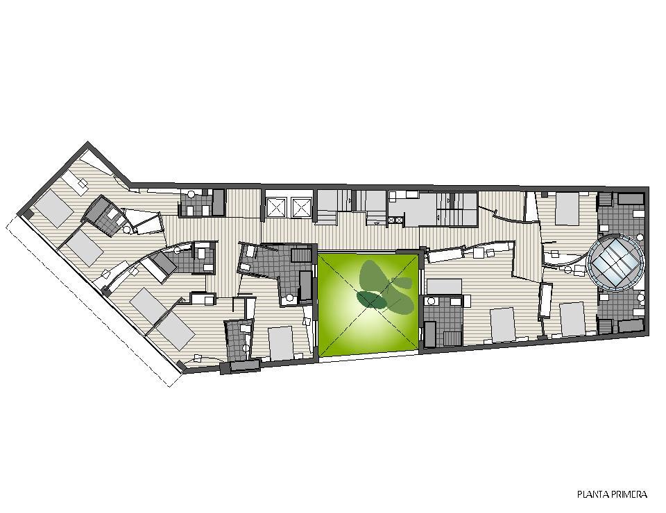 Planta primera - Reforma integral de edificio para Hotel Plaza