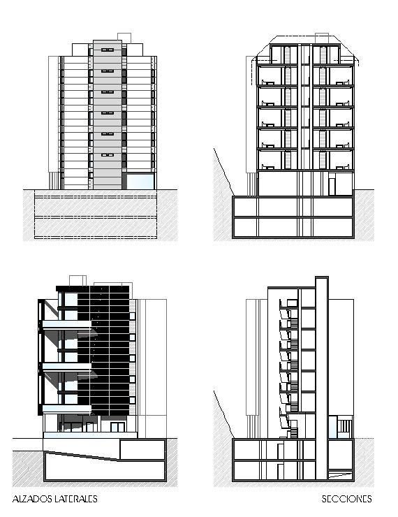 Alzados laterales y secciones - VPA-Cordeda