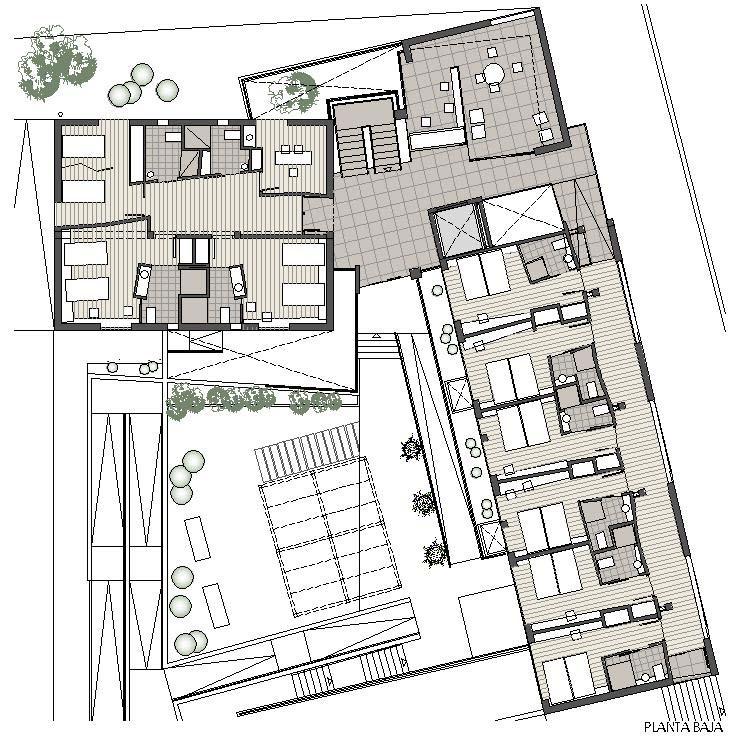 Mini residencia de la tercera edad abeij n fern ndez for Arquitectura geriatrica