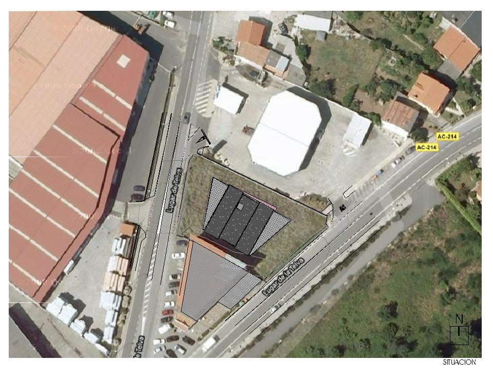 Nave industrial y oficinas en A Telva - Situación