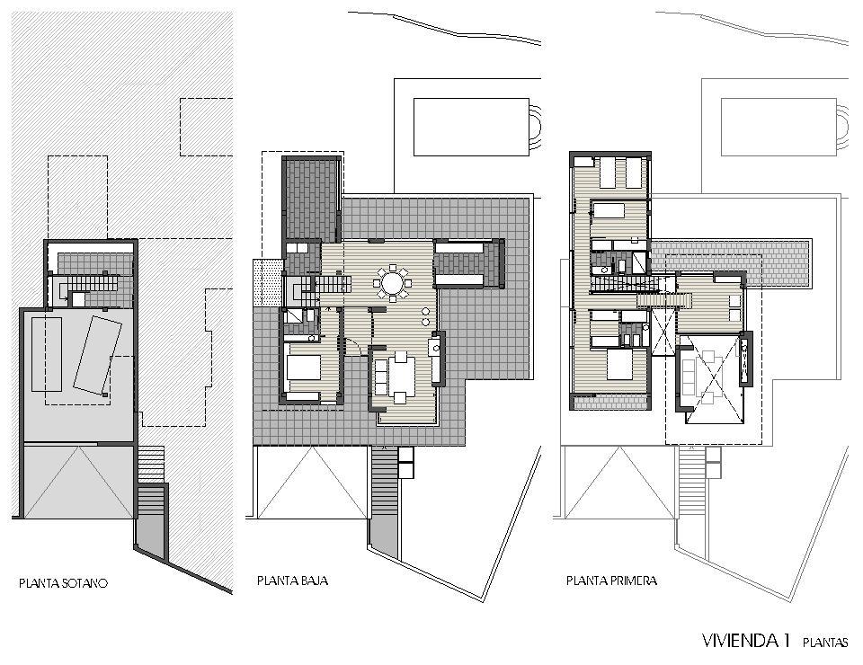 Viviendas unifamiliares en lourenci o viv 1 plantas for Plantas de viviendas