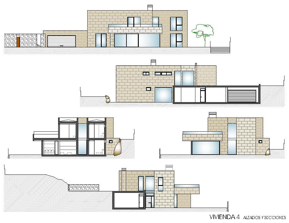 Viviendas unifamiliares en lourenci o viv 4 alzados - Casas unifamiliares planos ...